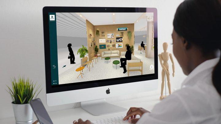 zendesk 3D virtual trade show booth